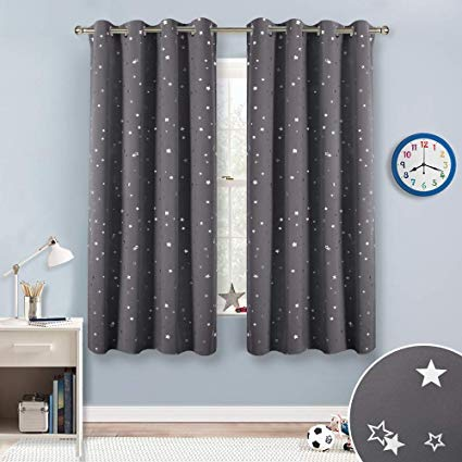 Amazon.com: RYB HOME Twinkle Star Blackout Curtains for Kids Bedroom