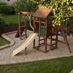 Cute Backyard Garden Playground For Kids