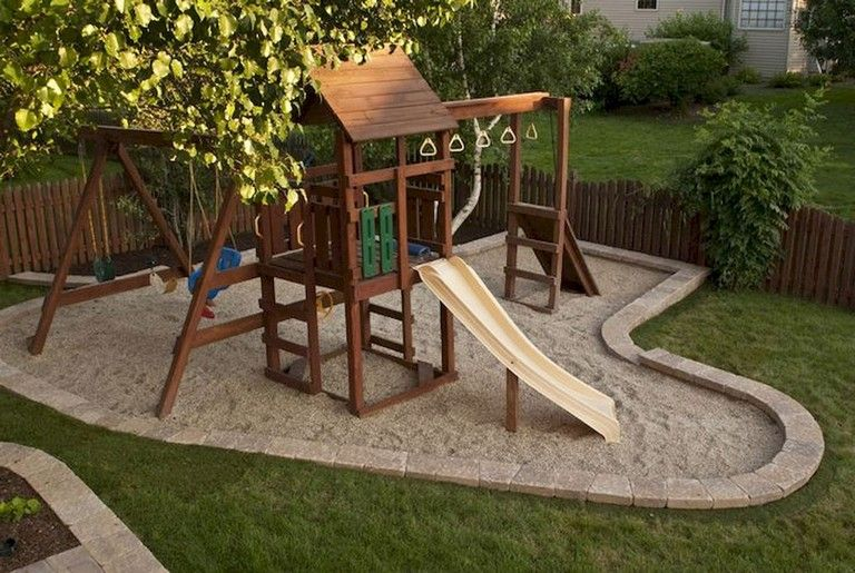 37+ Clever and Cute Backyard Garden Playground for Kids | Garden and