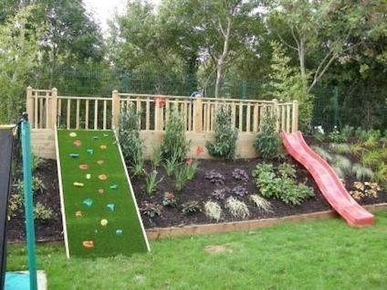 Creative and Cute Backyard Garden Playground for Kids (10