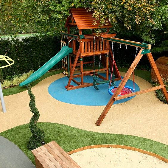 Cute Backyard Garden Playground Ideas 11