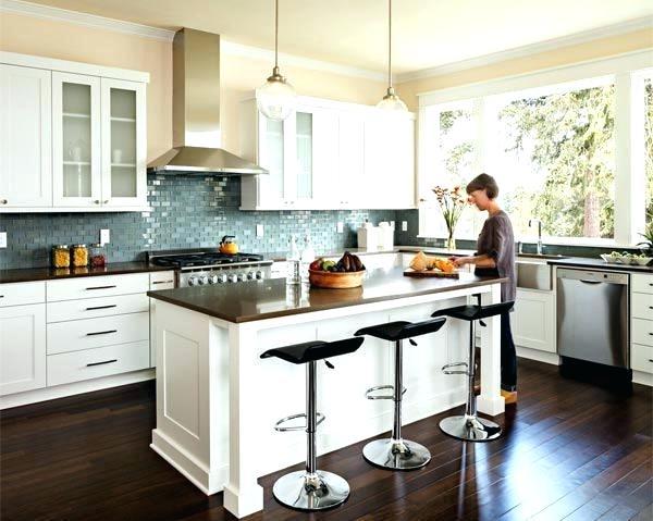 Kitchen Ideas With Dark Hardwood Floors This Chic Kitchen Is