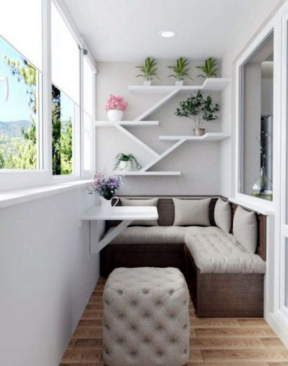 24 Modern Small Balcony Design Ideas For Apartment | Apartment Ideas