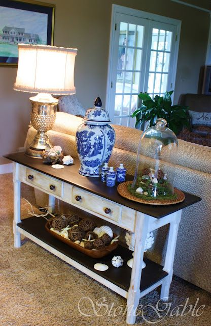Painted Sofa Table | Livingrooms - such great ideas! | Sofa table