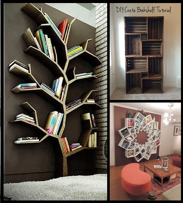 10 Creative DIY Bookshelf Projects