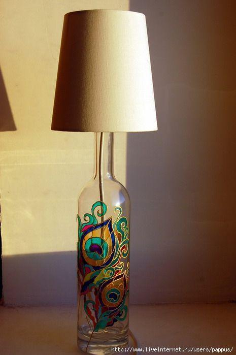 14 Stunning DIY Glass Bottle Lamp Ideas