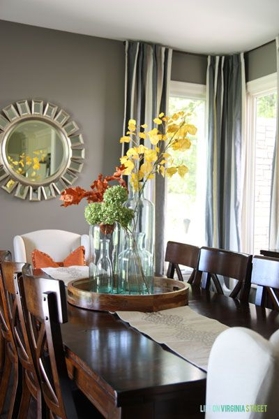 Fall Home Tour | DIY Ideas | Dining room table decor, Farmhouse