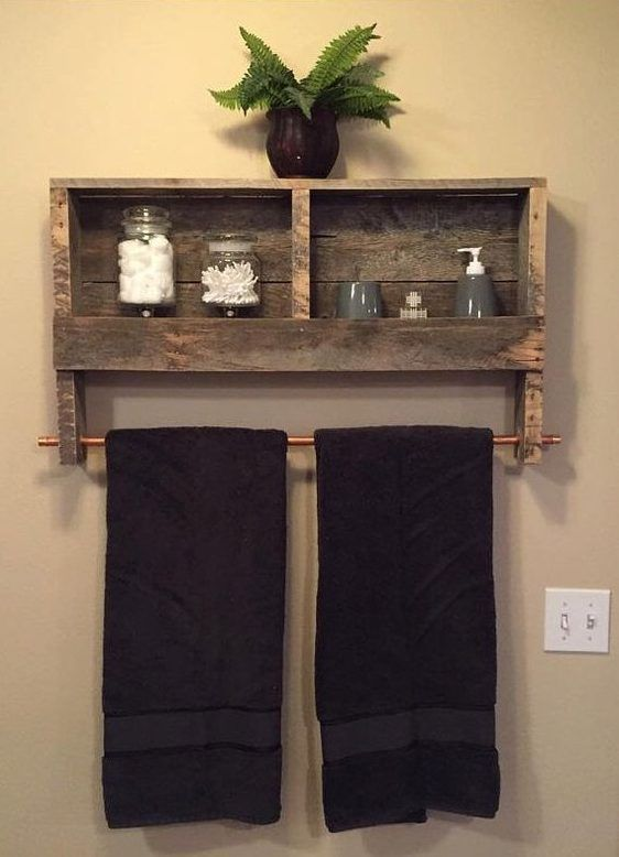 12 DIY Pallet Projects for Your Home Improvement | Bathroom ideas
