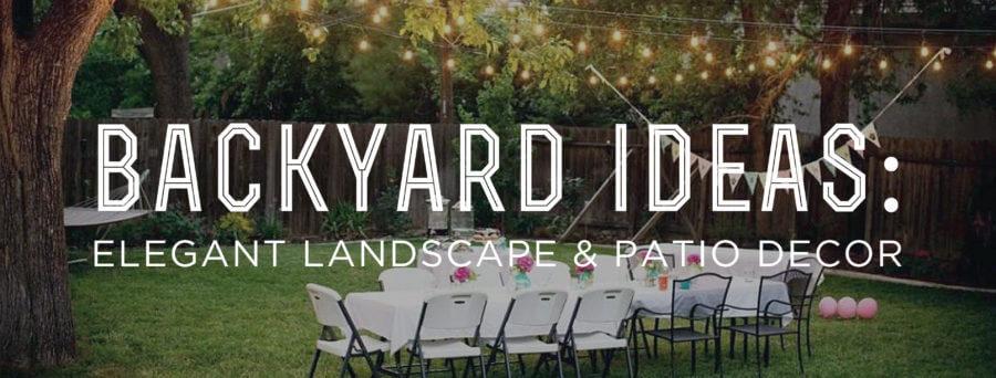Backyard Ideas: Elegant Landscape and Patio Decor u2014 Gentleman's Gazette