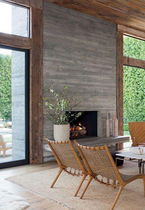 40 Elegant Modern Chimney Ideas | Trending Decoration | Fireplace