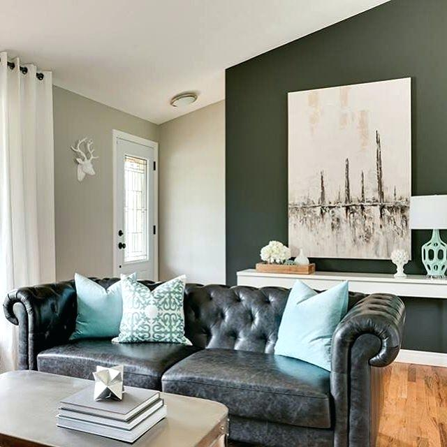 Extraordinary Black And Turquoise Living Room Gray Sectional