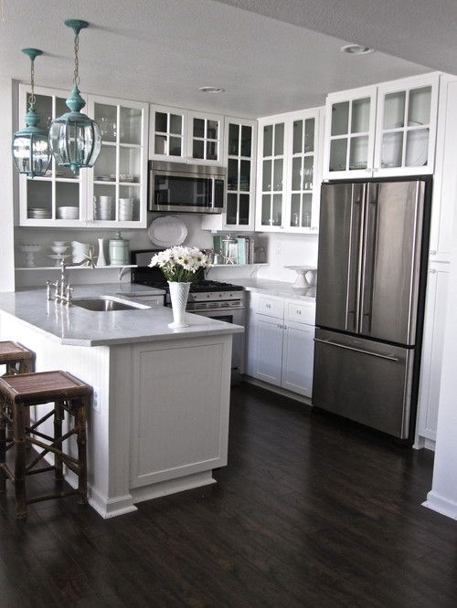 47 Extraordinary Small White Kitchen Design Ideas | Kitchen