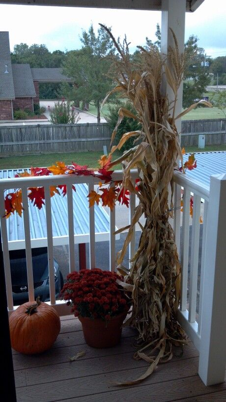 Balcony fall decorations | Stuff to Try | Fall apartment decor, Fall