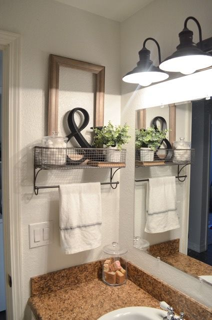 Farmhouse Bathroom Organization | Organization Ideas | Bathroom