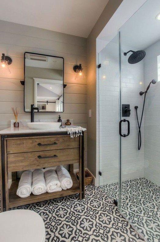 39 Fabulous Farmhouse Bathroom Wall Color Ideas   Bathroom