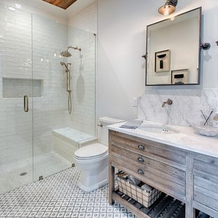 75 Most Popular Farmhouse Walk-In Shower Design Ideas for 2019