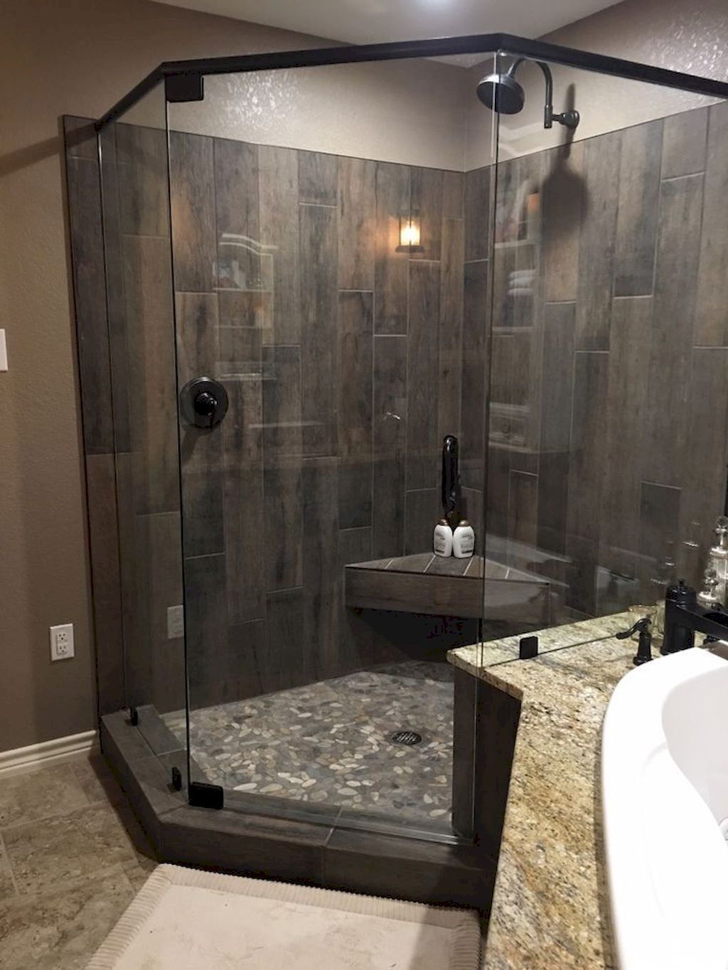 90 Insane Rustic Farmhouse Shower Tile Remodel Ideas - DoitDecor