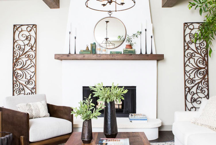 25 Gorgeous Fireplace Mantel Decorating Ideas That'll Keep You Cozy