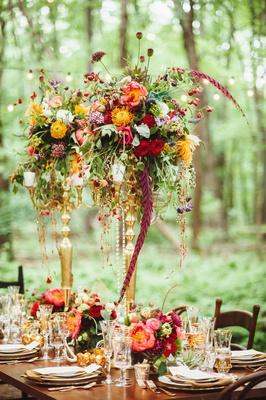 Tall Flower Arrangements - Wedding Centerpiece Designs - Inside Weddings
