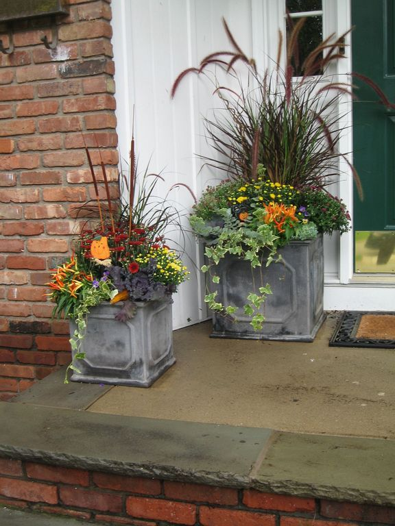 20+ Gorgeous Fall Planters Ideas For Front Door | Fab Fall Front