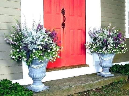 Porch Planter Ideas Brilliant Front Pots Throughout 1