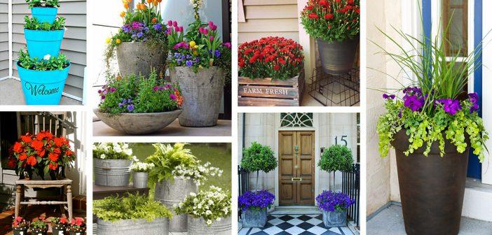 Front Door Flower Pots Ideas