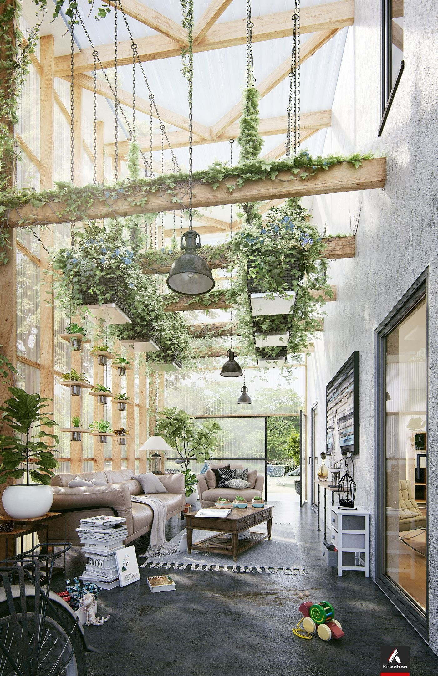44 Impressive Glass Ceiling Indoor Design Inspiration Ideas - About-Ruth