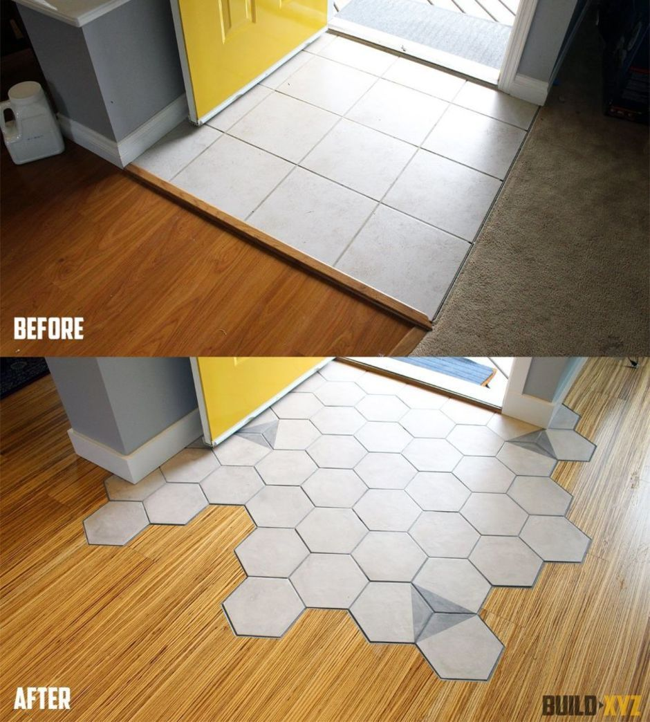 65 Stunning Hexagon Tile Transitions Designs That You Must See - DecOMG