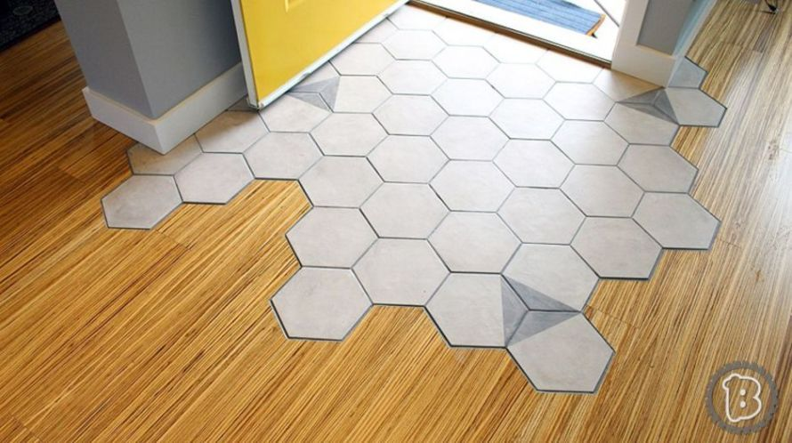 Hexagon Tile Transitions Design