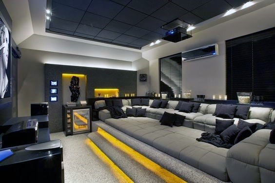 80 Home Theater Design Ideas For Men - Movie Room Retreats