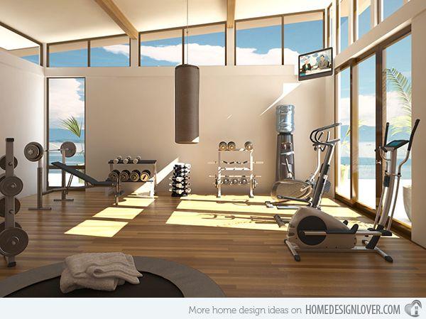 15 Cool Home Gym Ideas | home gym | Home gym design, Dream home gym