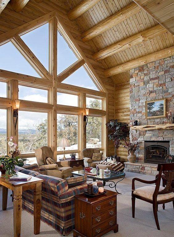Log Cabin Interiors | Log Cabin Interiors Photo Gallery | Michigan