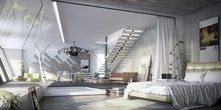 20 Gorgeous Industrial Design Bedroom Ideas