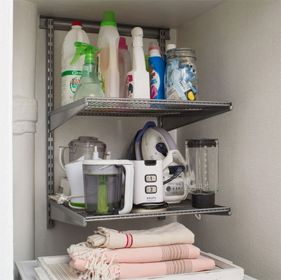 Laundry Room Shelving - Ideas for Laundry Shelving & Laundry Closet