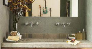 Modern Bathroom Vanities | Beautiful Bathrooms | Bathroom, Concrete