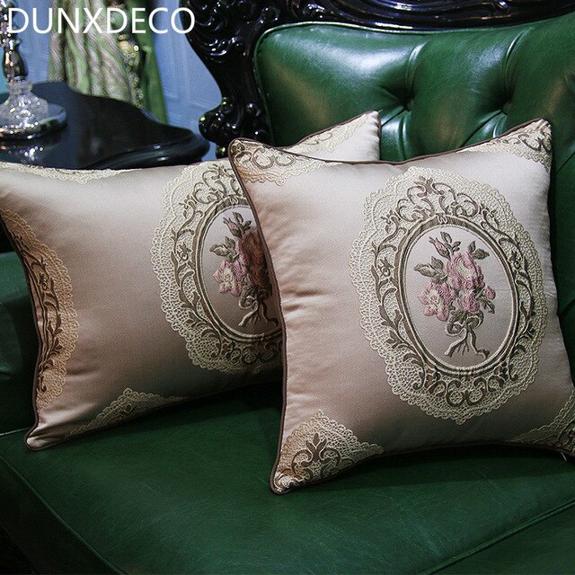 DUNXDECO Cushion Cover Decorative Pillow Case Vintage French Court