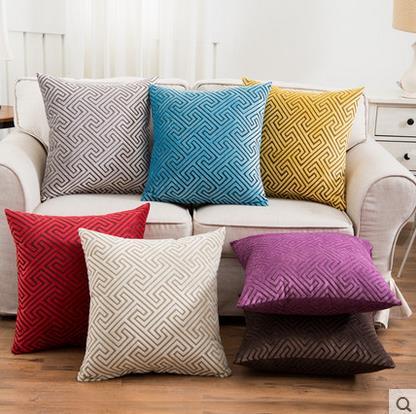 European Style Luxury Geometric 45x45cm Polyester Home/Office/Sofa