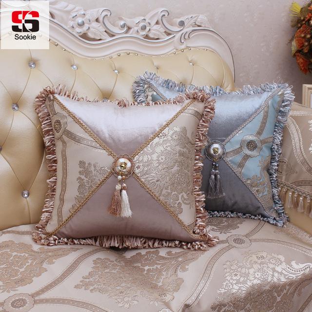 Sookie European Style Decorative Pillow Case Luxury Cotton Linen