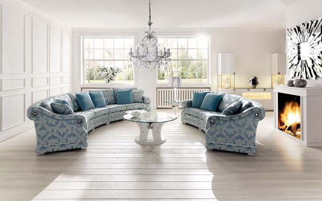 Romana: Luxury living room design by Finkeldei