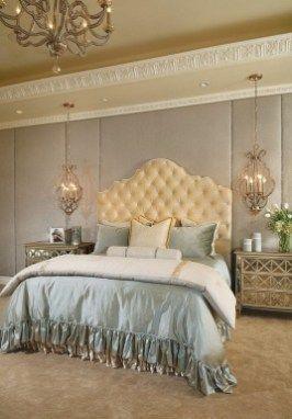 46 Luxury Champagne Bedroom Ideas | Master bedroom | Pinterest