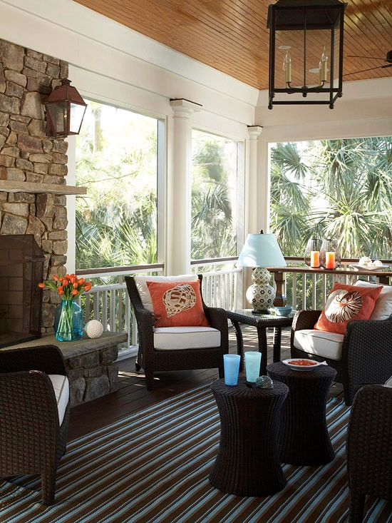 Indoor Porches You'll Love   Pretty Patios, Porches, and Pergolas