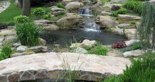 Modern Backyard Fish Pond Garden Landscaping Ideas 01 | fish pond