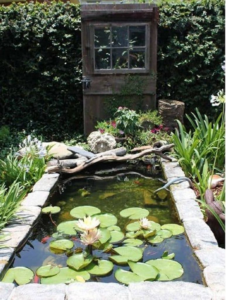 Modern Backyard Fish Pond Garden Landscaping Ideas 8