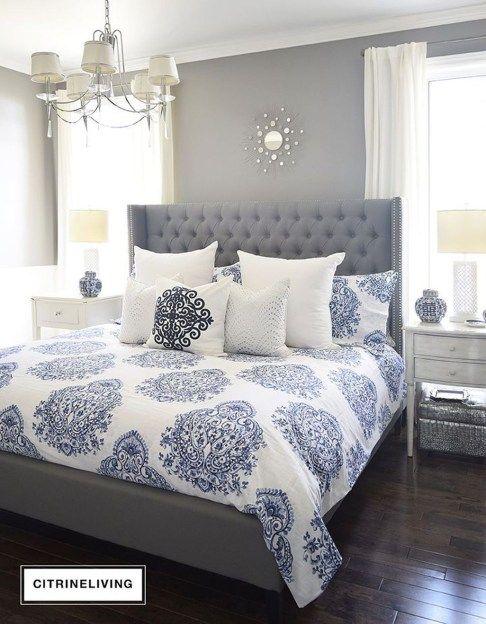 43 Modern Blue Master Bedroom Ideas | Bedroom | Bedroom, Master