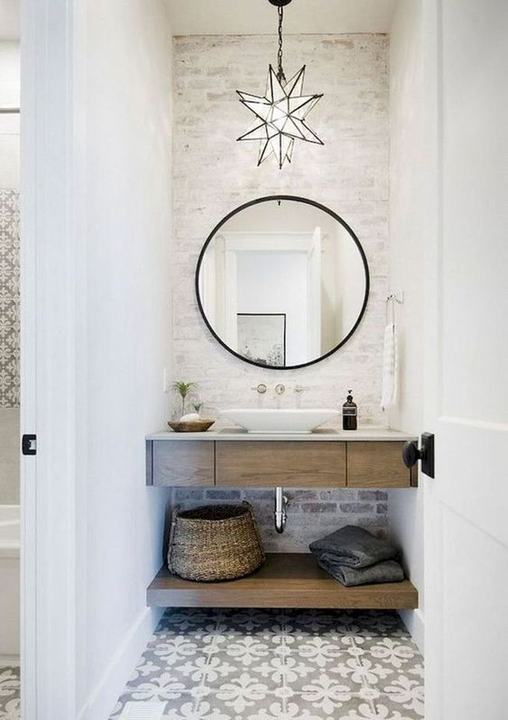 80 Modern Farmhouse Bathroom Makeover Decor Ideas | bathroom