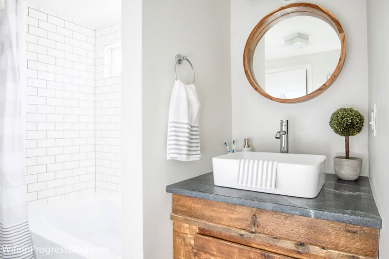 Modern Farmhouse Bathroom Makeover - Jenna Kate at Home