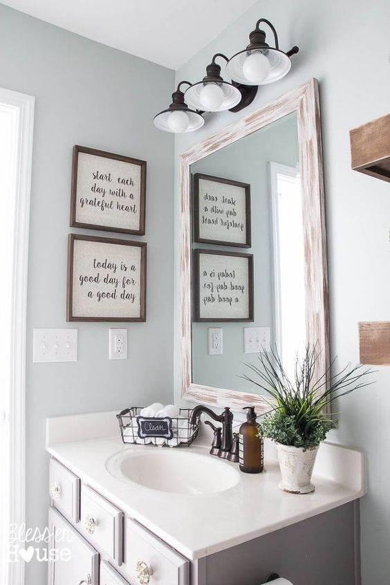 Modern Farmhouse Bathroom Makeover Decor Ideas
