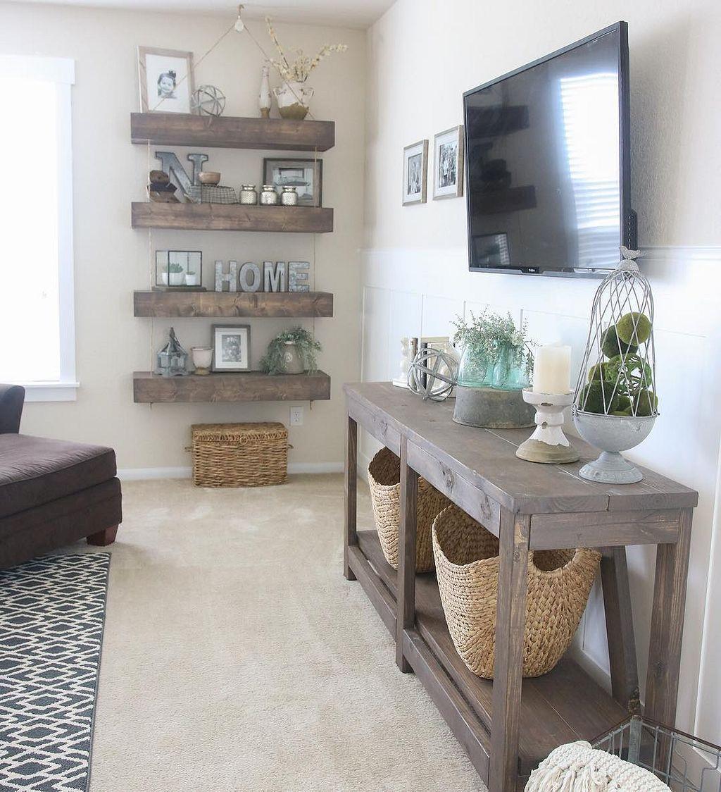 85 Cozy Modern Farmhouse Living Room Decor Ideas - HomeSpecially