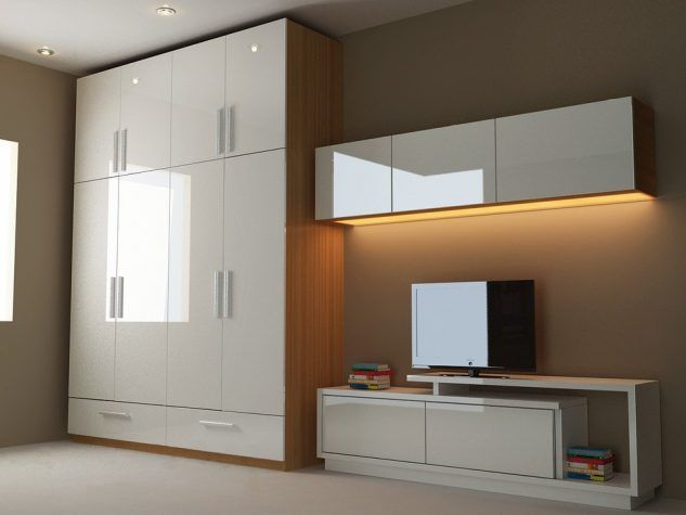 Modern Ideas About Bedroom Cupboard Design That Inspire You | Tv