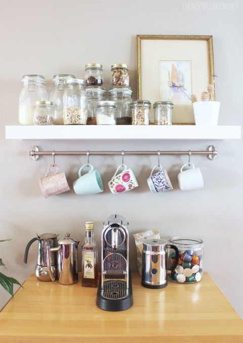 How to Organize Your Coffee Cups - Kitchen Coffee Mug Organization Ideas